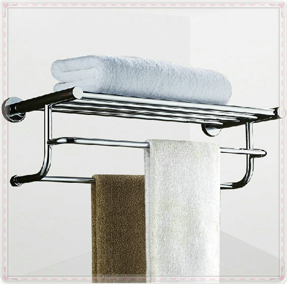 Chrome Storage Rack Chrome Finished Towel Rack