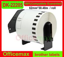 Rolls Brother Compatible Labels DK-22205, 62mm x 30.48m, Continuous Paper Labels, DK 22205, DK 2205
