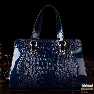 Women Genuine Leather Handbgas Crocodile Pattern Leather Bags Lady Shoulder Bags Fashion OL Tote Bolsas Femininas(China (Mainland))