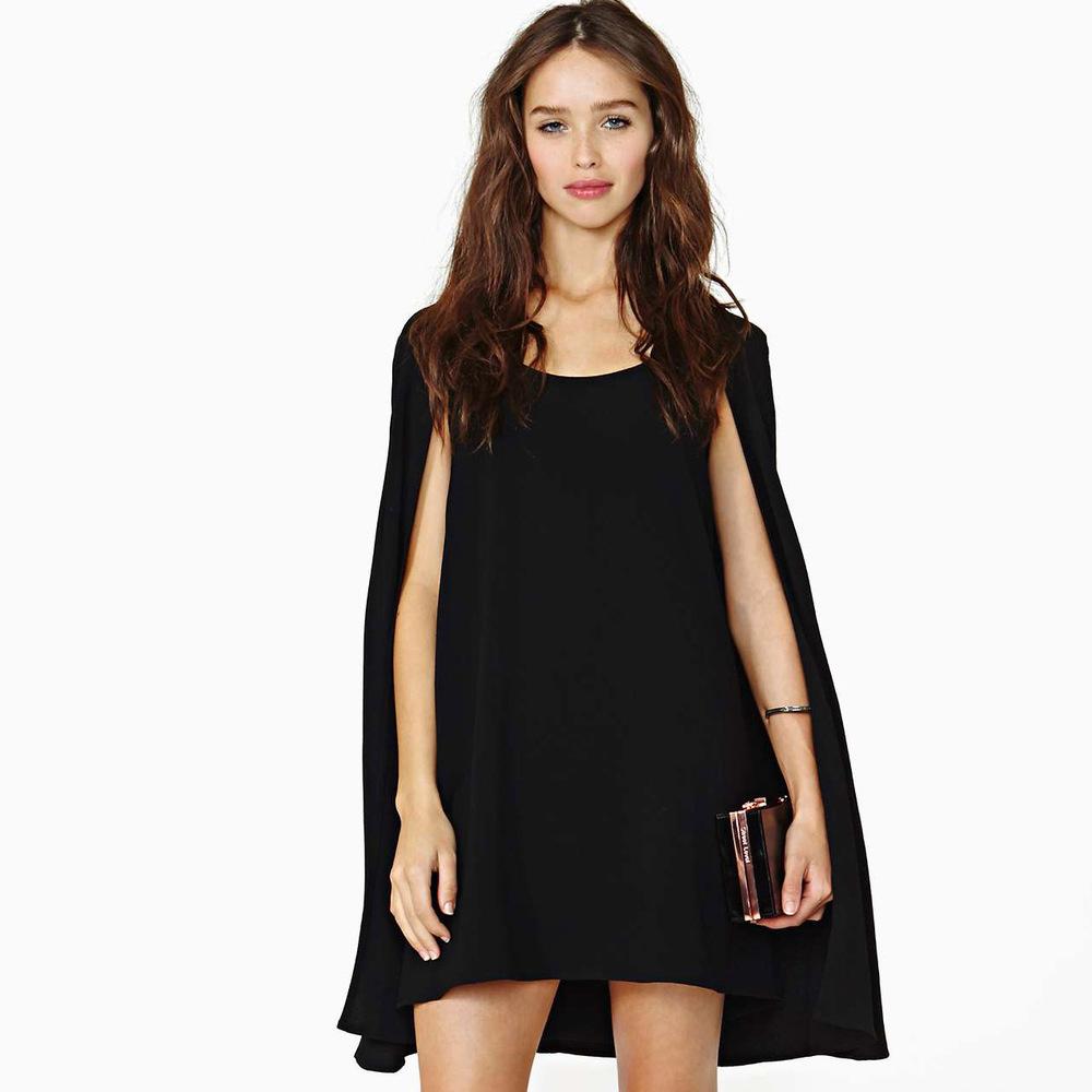 Накидка на платье черное