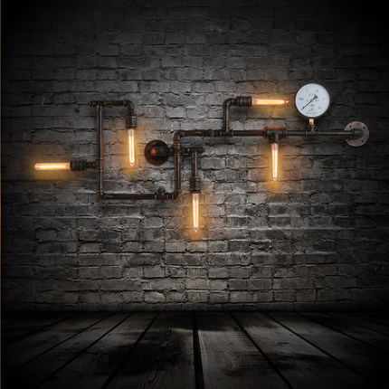 buy creative ancient water pipe wall lamp sconce american vintage industrial. Black Bedroom Furniture Sets. Home Design Ideas