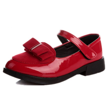 2015 autumn models girls princess shoes bow shoes big virgin solid shoes dance shoes(China (Mainland))