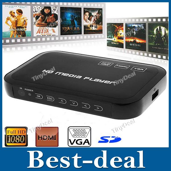 Full HD 1080P HDMI Media Player Center TV HDD MKV SD USB MMC Player MP3 MP4 AVI RM RMVB DIVX MPEG H.264 WMV Photo Music Movie(China (Mainland))