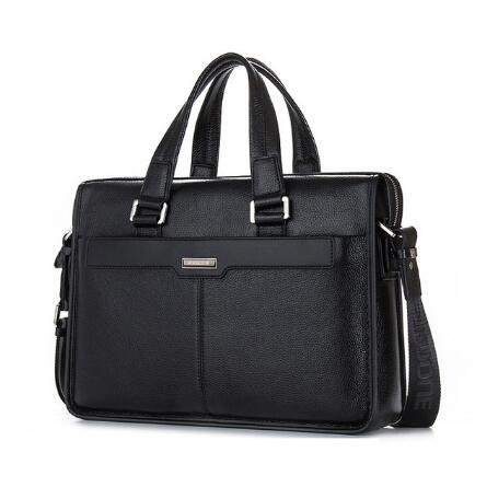 Luxury Famous Brand First layer Genuine Leather men handbags Fashion shoulder bags 15 15.6 Inch Laptop Bag Business Briefcase<br><br>Aliexpress