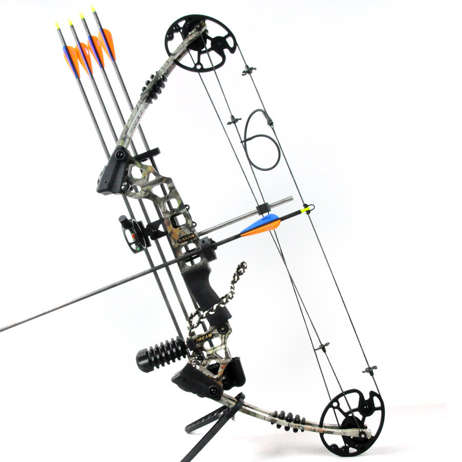 Camo Dream hunting compound bow bow and arrow set archery set China Archery Black and Camouflage