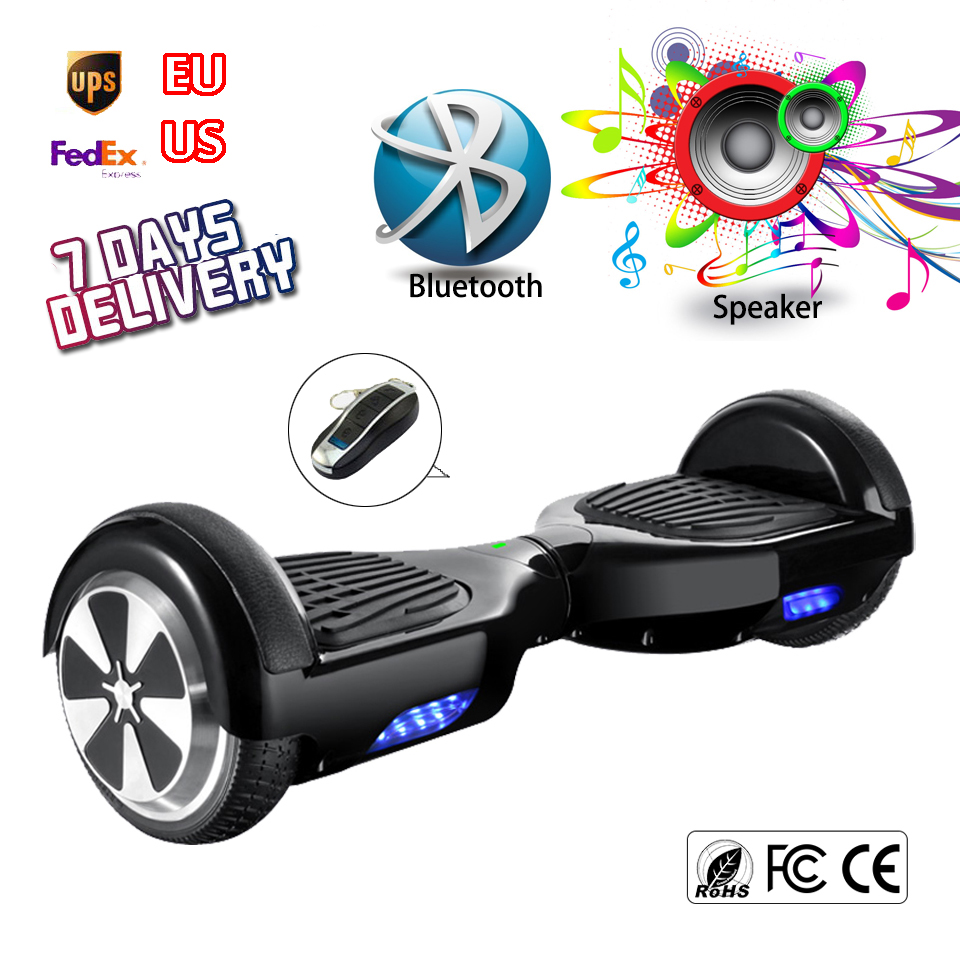 Black Hoover Board Bluetooth Electric Self Balancing Scooter Mini Drifting Hoverboard Walk Car Hover Bord Man Overboard Ox Board(China (Mainland))