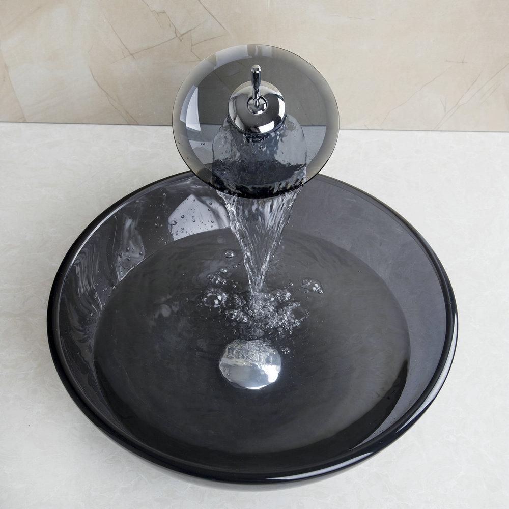 online kaufen gro handel blau waschbecken aus glas aus. Black Bedroom Furniture Sets. Home Design Ideas