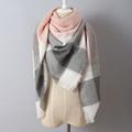 140x140cm Za winter acrylic cashmere tartan plaid scarf brand blanket shawl designer pashmina wrap stole for
