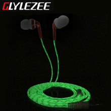 Glylezee G2 In-Ear Earphone Headphones Luminous Stereo Headset MP3 Music Headset for Cellphone with Retail Package