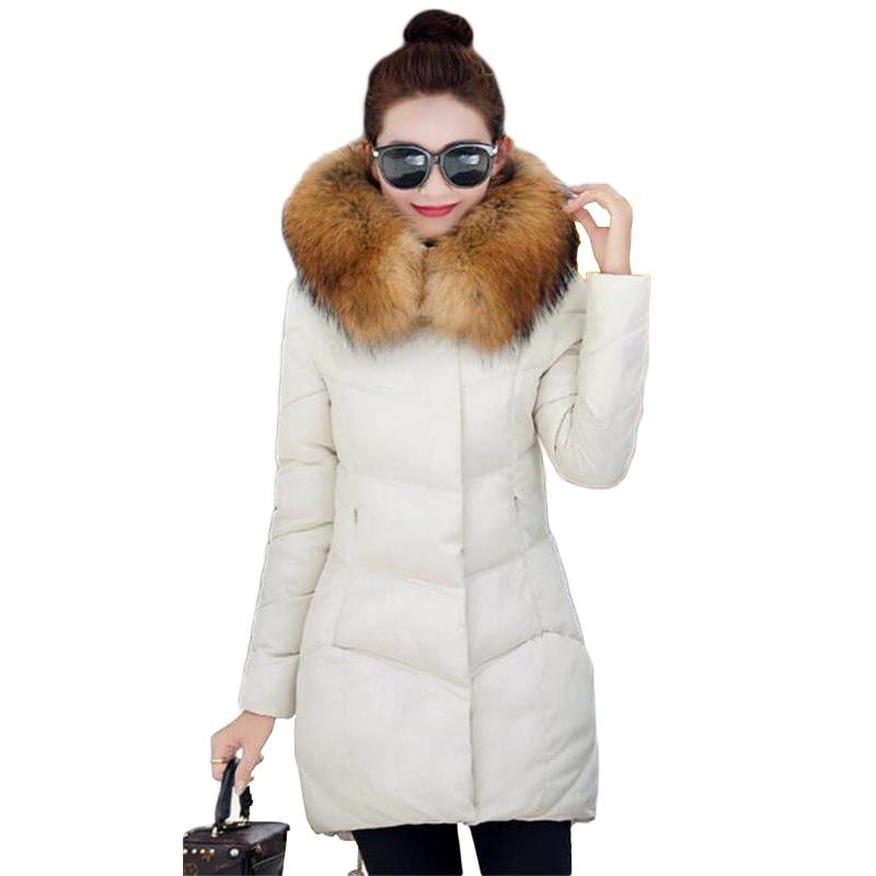 Hot ! Winter Jacket Women 2016 New Fashion winter coat long paragraph Duck Down Jacket padded fur collar Warm jacket parka(China (Mainland))
