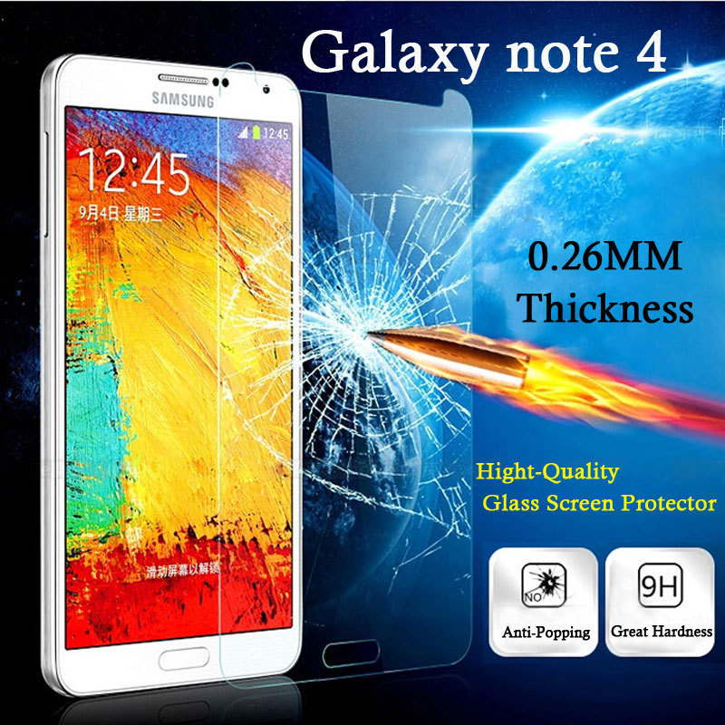 HD Screen Protector Samsung Galaxy Note 4 Tempered Glass Anti-Explosion 0.3mm Ultra-thin 2.5D Protective Film - TeoYall Store store
