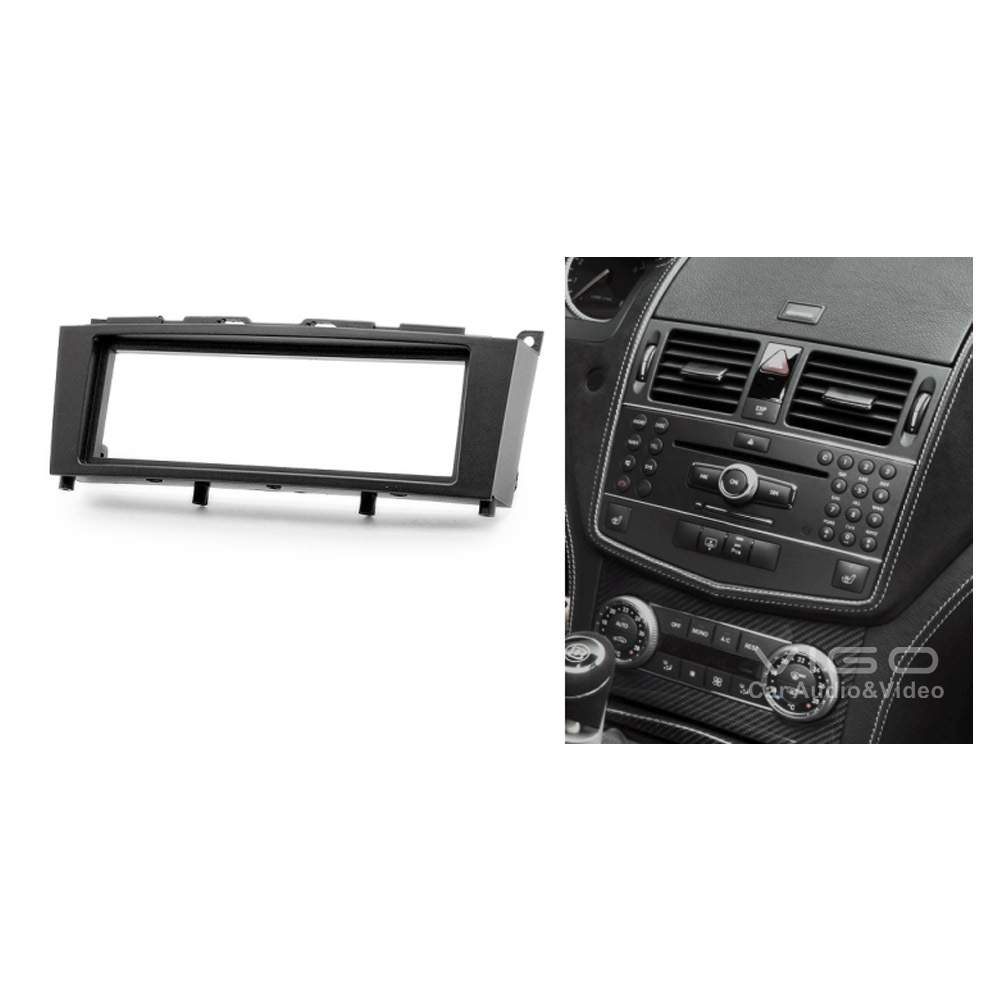 11 182 car audio facia for mercedes benz c klasse w204 for Mercedes benz stereo installation