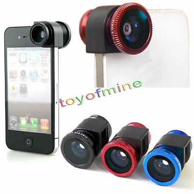 Fisheye Lens 3 in 1 mobile phone clip lens fish eye wide angle macro camera lens Kit For iPhone 4 4s(China (Mainland))