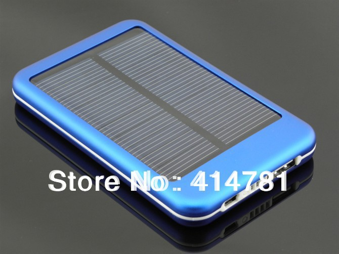 Free shipping High quality 5000mAh Solar Power bank Solar charger Conversion head 5 + adapter With Retail Package(China (Mainland))