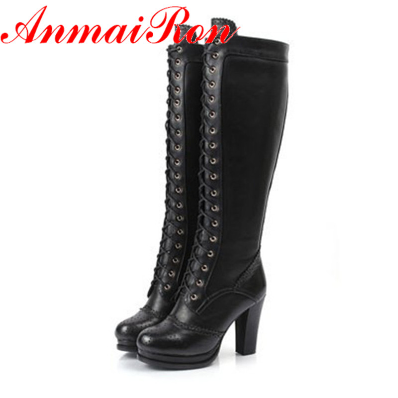 anmairon high quality winter boots thigh high