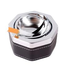 Hexagon Cigarette Ash Ashtray Smokeless Holder With Lid Portable Professional #61428 (China (Mainland))