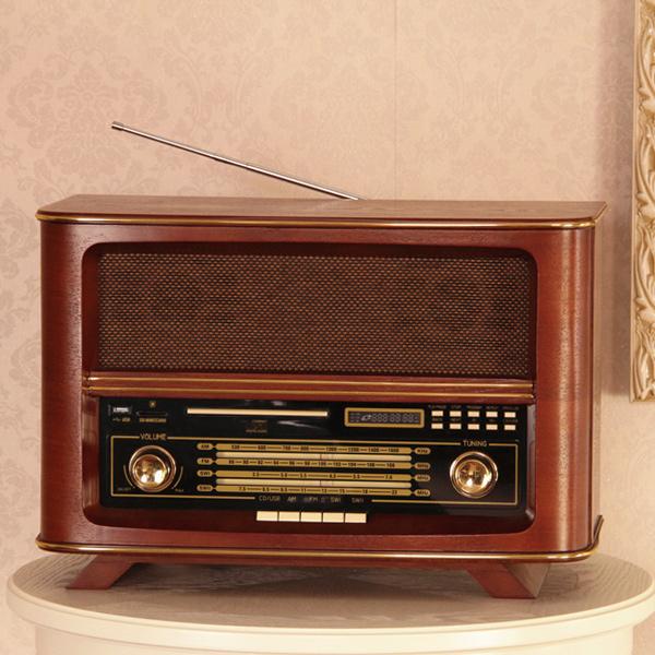 Desktop r065 vintage fm radio full antique wool short wave card radio(China (Mainland))