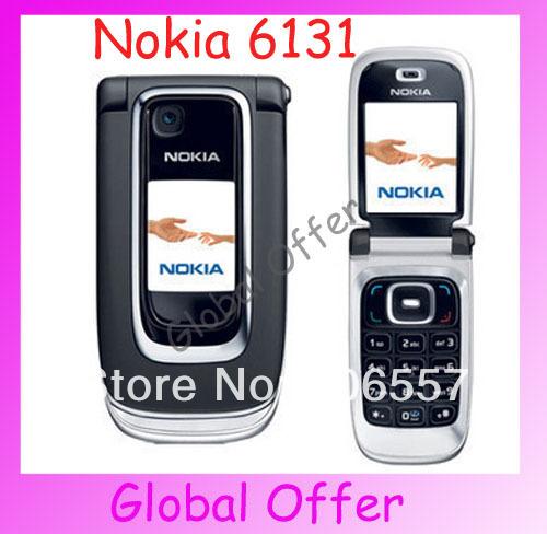 6131 Original Unlocked NOKIA 6131 mobile phone Bluetooth Camera Vedio FM JAVA MP3 Cheap Cell phone refurbished 1 year warranty(China (Mainland))