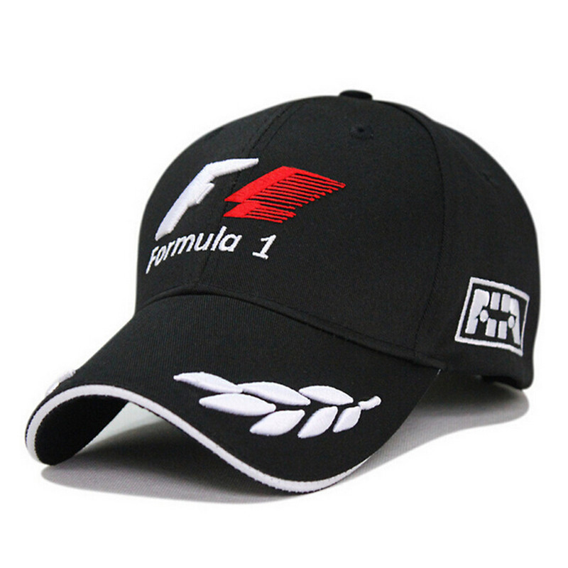 2015 new black F1 racing team hat embroideried letters wheat f1 formula one team golf snapback cap baseball cap men/women(China (Mainland))