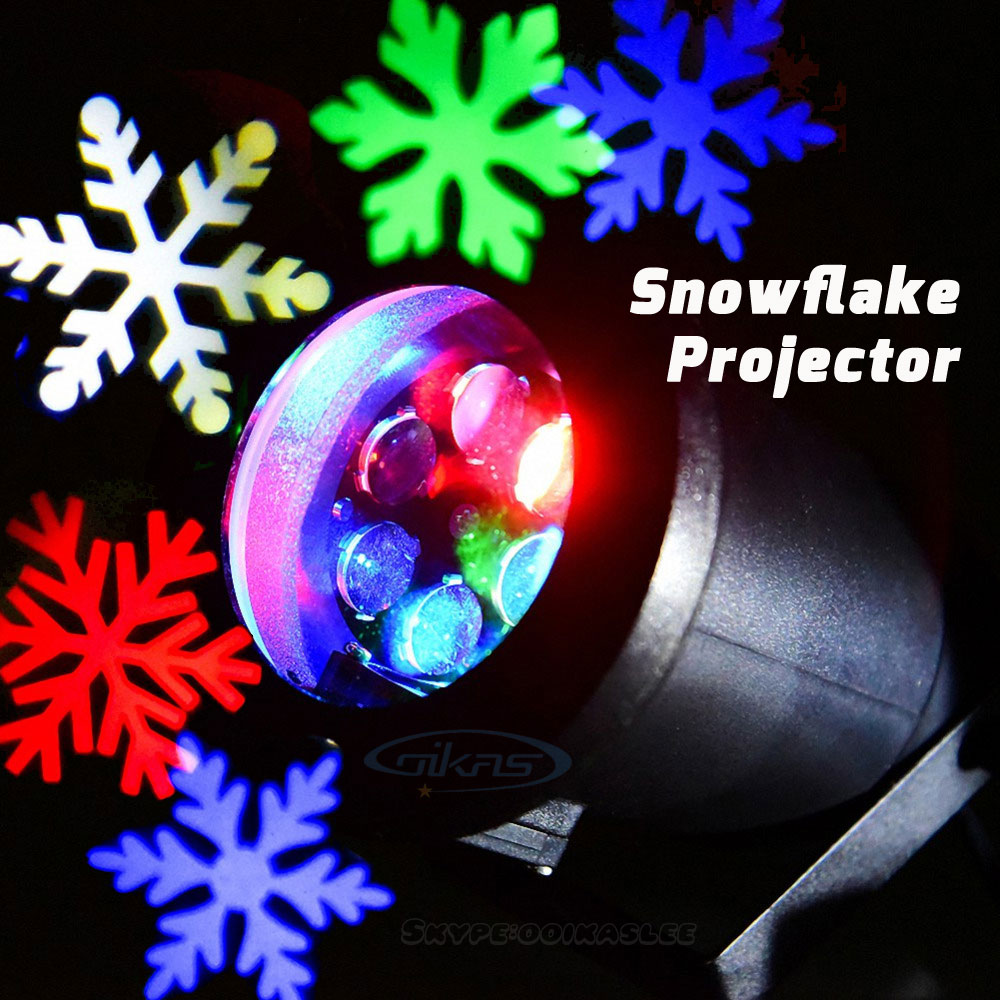 Гаджет  Outdoor Christmas Lights Snowflake Projector Waterproof IP64 Sparkling Snowflake Holiday LED Christmas Decorations For Home None Свет и освещение