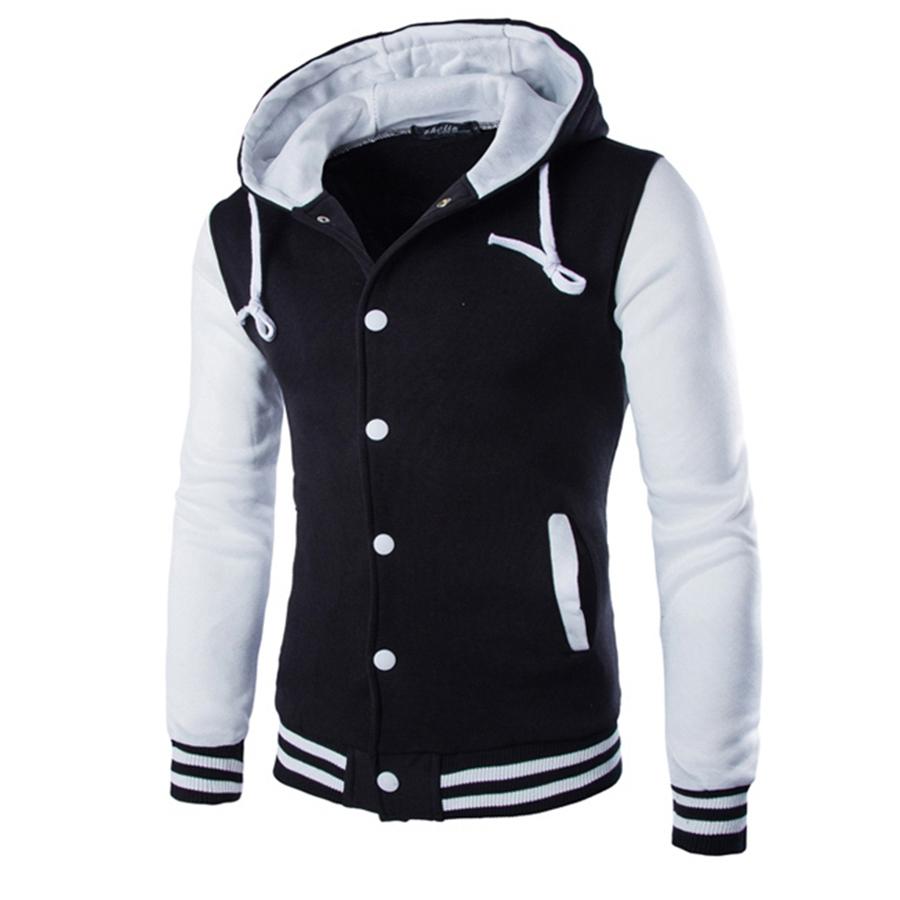2016 New Arrival Spring Men's Jackets Fashion Hooded Sweater Jackets BaseBall Shirts Casual Slim Hoodies Sweatshirts MXA0443(China (Mainland))