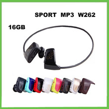 16G W262 mp3 player,W262 music player,sport mp3 headphone earphone high sound quality+ with logo,Free Shipping(China (Mainland))