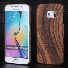 Hot money Case for Samsung Galaxy S6 Edge PU + PC material Retro luxury by cases Anti-knock Wood mobile phone Accessories