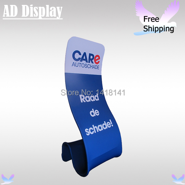 Tradeshow Advertising Tension Fabric Snake Promotional Banner Stand With Single Side Printing,Exhibition Booth Display Equipment(China (Mainland))