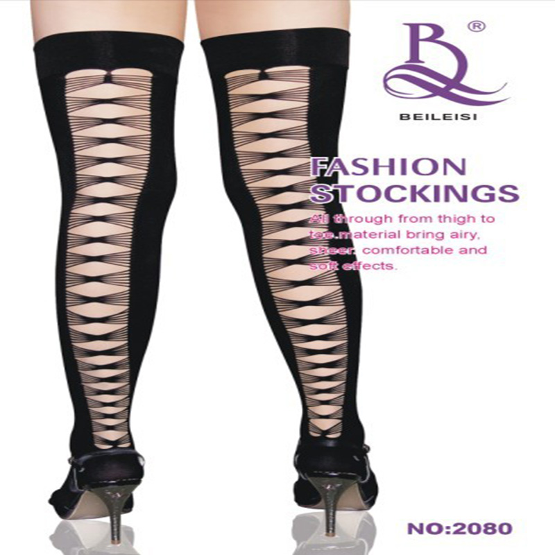 Europran Style Sexy Stockings 2016 Lovely Girl Type Sexy Black Hollow Out Silk Stockings Plus Size(China (Mainland))