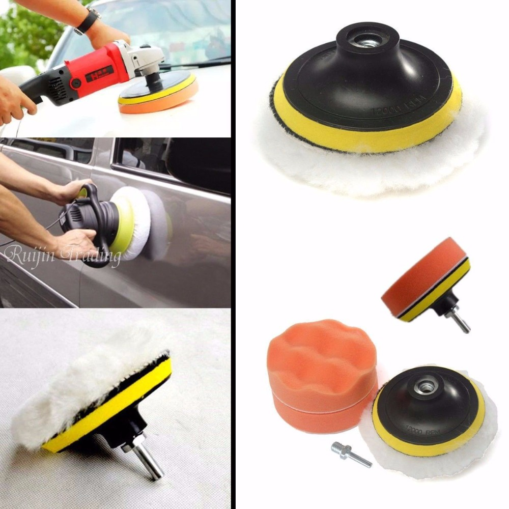 7pc Polishing Buffing Pad Kit for Auto Car Polishing Wheel Kit Buffer With Drill Adapter Car Removes Scratches Car-styling(China (Mainland))
