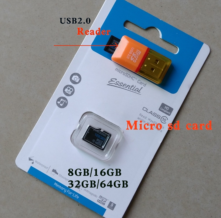 2015 New Micro SD card Pass H2testw 32B Memory card 100% read class10 Tf card 64GB 16GB 8GB for cell phones tablet free shipping(China (Mainland))
