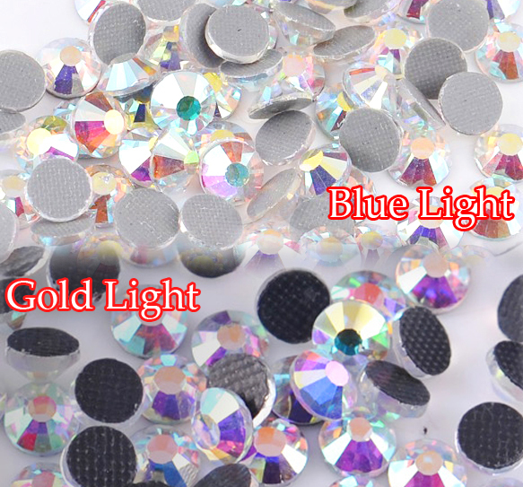 Гаджет  Mix Golden Blue Light Crystal AB Glitters Glass More Bright Stones 1440pcs 4mm SS16 DMC Strass Hotfix Rhinestones None Дом и Сад