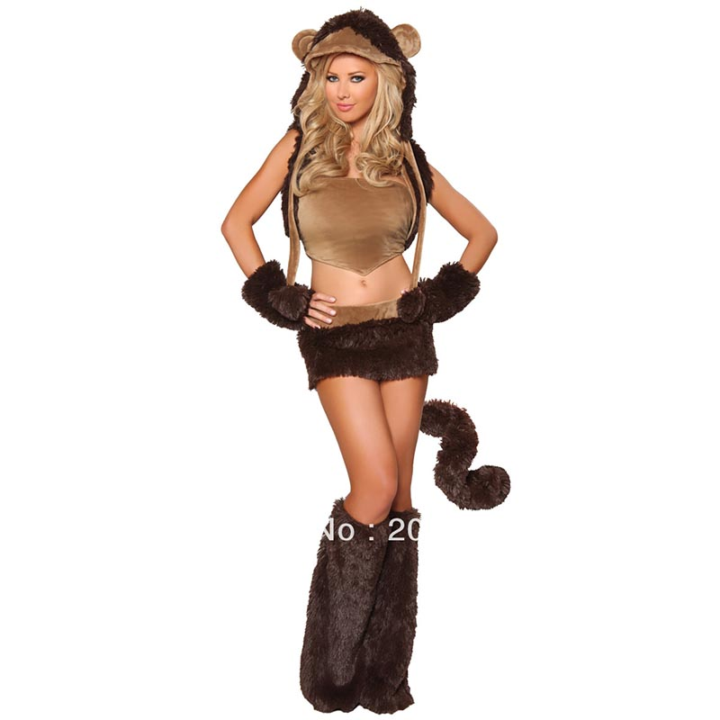 Women Fursuit Teddy Bear Costume Adult Carnival Costume(China (Mainland))