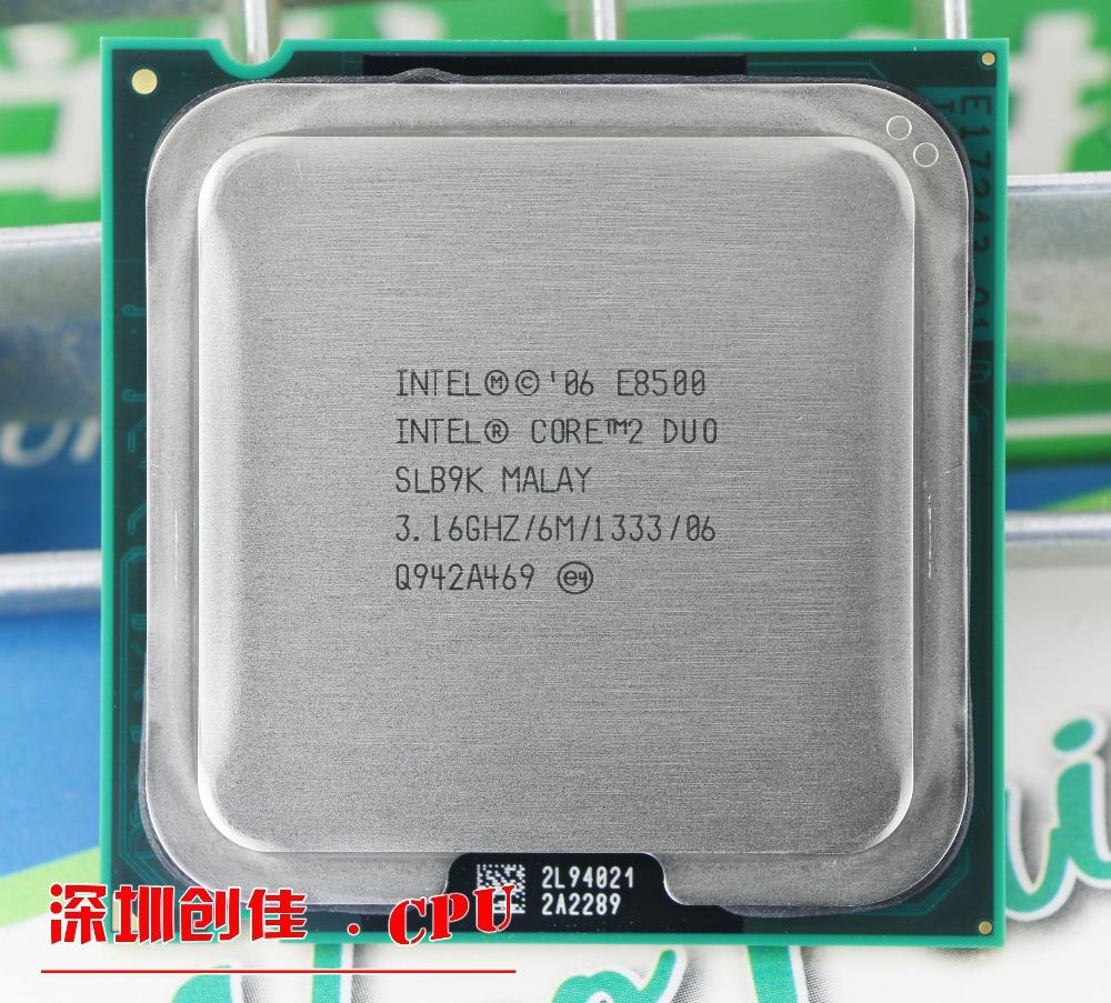 Free Shipping Intel CPU, Core2 DUO E8500 CPU/ 3.1GHz/ LGA775 /775pin/6MB L2 Cache/ Dual-CORE/65W Processor scrattered piece(China (Mainland))