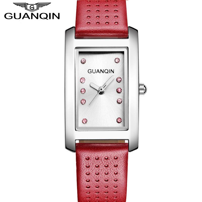GUANQIN Luxury Brand Fashion Casual Watches women Diamonds leather Strap Quartz Watch Waterproof Ladies Dress Wristwatch relogio<br><br>Aliexpress