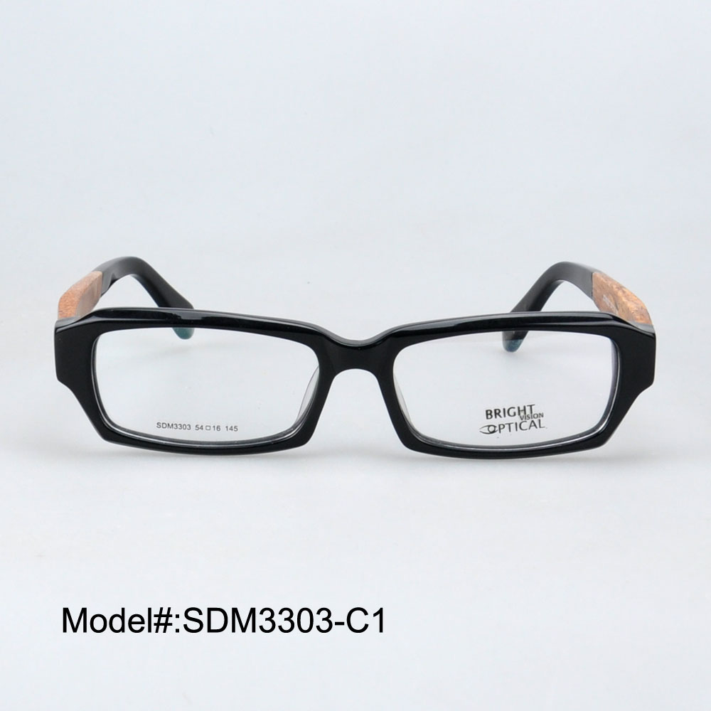 Eyeglass Frame Joint : SDM3303 Full rim quality with joint wooden temple ...