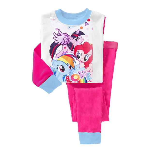 2015 новых девушек одежда, 100% хлопок дети комплект одежды, Футболка + брюки, Девушки летняя одежда, Детская одежда, Девушки устанавливает