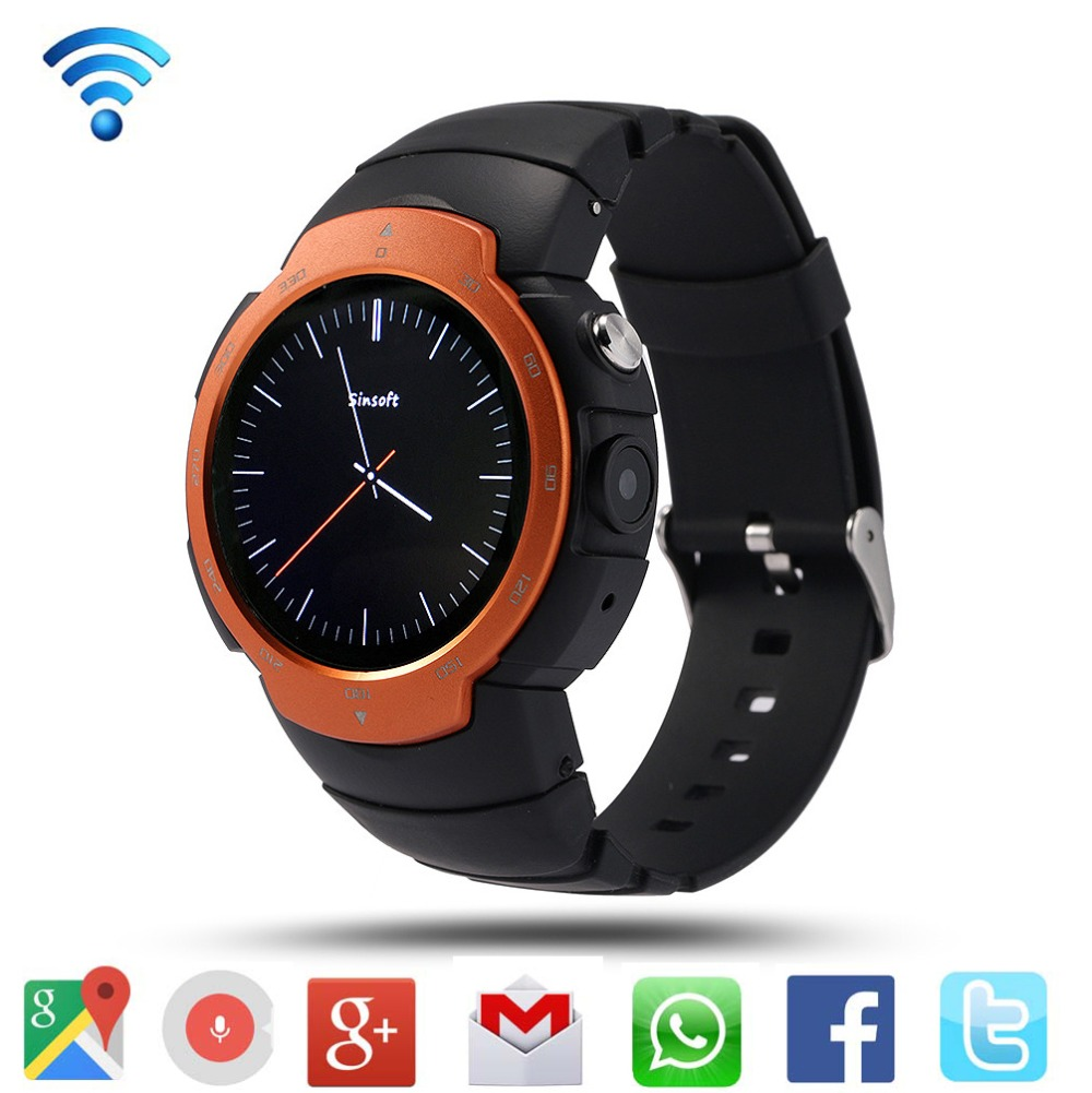 LEMFO LEM3 Bluetooth Smart Watch Phone Support Nano SIM Card 512MB/ 4GB 3G Wifi Google Voice GPS for Android 5.1 Smartwatch(China (Mainland))