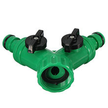 New Hot ABS Plastic Hose Pipe Tool 2 Way Connector 2 Way Tap Garden HOSEs PIPEs SPLITTERs Free Shipping(China (Mainland))