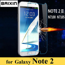 Premium 0.3mm Tempered Glass Film Explosion Proof Screen Protector for Samsung Galaxy Note 2 II N7100 N7105 Protective Film(China (Mainland))