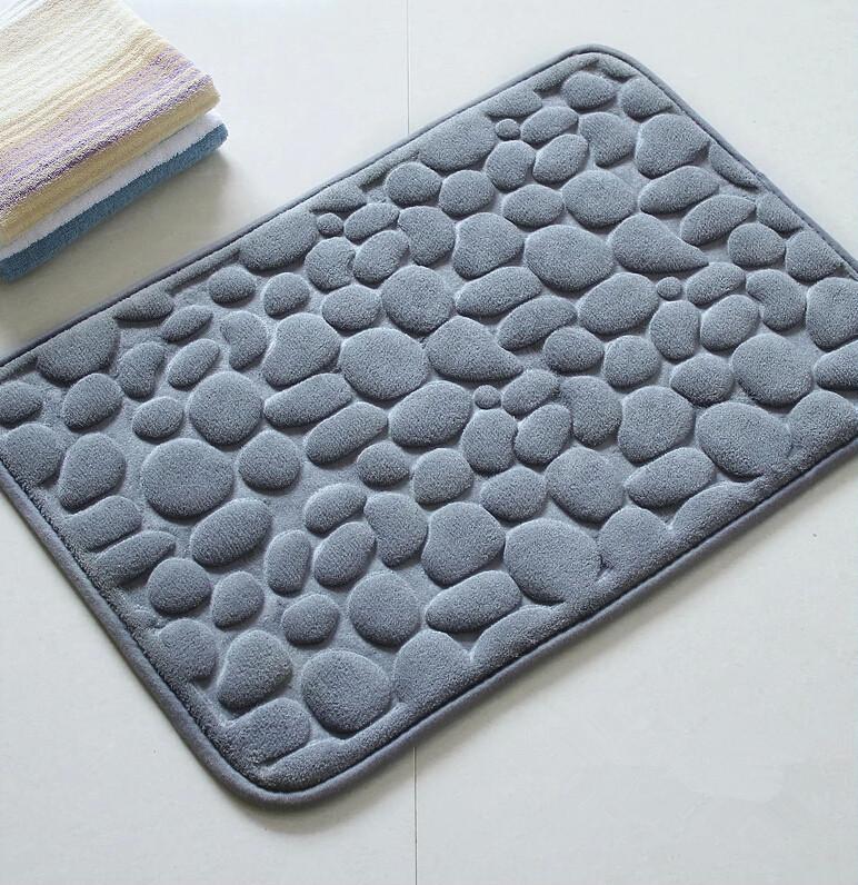 Buy 2015 Bath Mat Modern Stone Memory