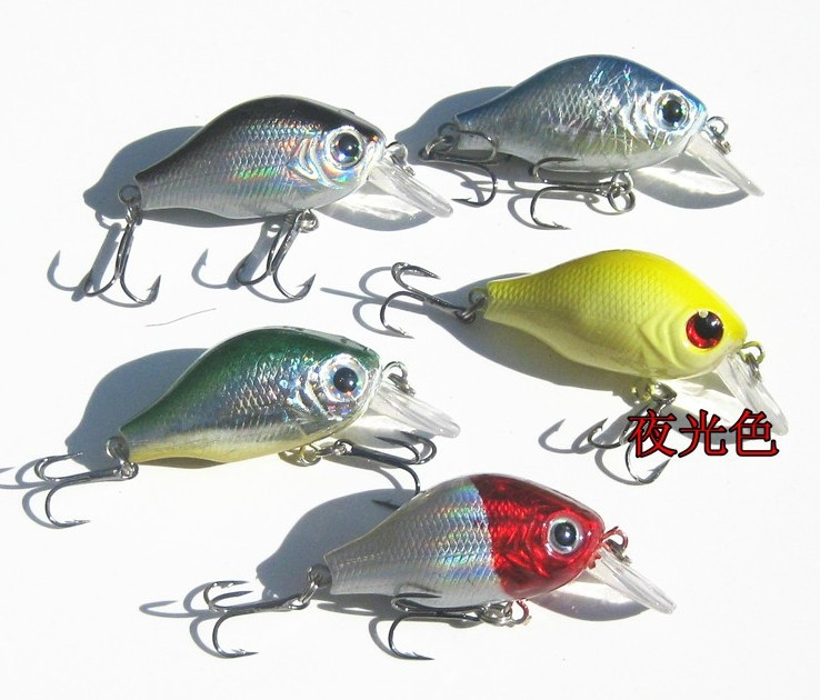 Здесь можно купить  New Arrival 3D eyes Crank Fishing lures15pcs/lot Treble hooks 55mm/8.2g fishing tackle 2-3 Free shipping  Спорт и развлечения