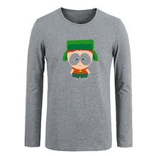 South Park Kyle Broflovski Men Customized Cotton Long Sleeve Tops Tees for Boy Casual Clothing Anime cosplay family T shirt(China (Mainland))