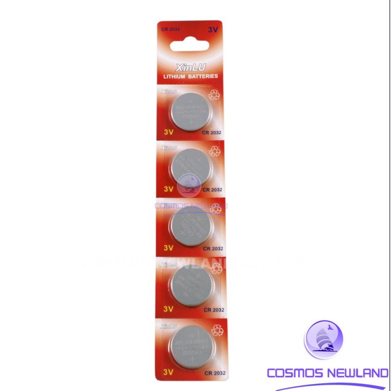 Free shipping+ Hot selling + 5PCS * CR2032 DL2032 CR 2032 KCR2032 5004LC ECR2032 Battery Cosmosnewland battery(China (Mainland))