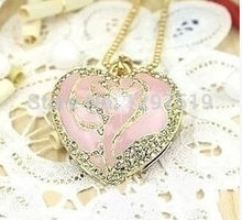 !usb flash drive Collectable Jewelry pink hearts USB 2.0 Flash Memory Stick Drive U Disk Festival Thumb/Car/Pen Gift stick S360(China (Mainland))