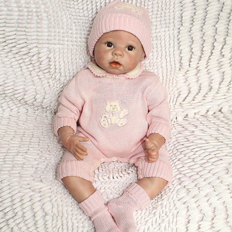 Fashion 22 Silicone Reborn Baby Doll Top Quality Handmade Blown Gentle Touch Vinyl Realistic Baby Doll Baby Toy Free Shipping<br><br>Aliexpress
