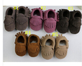 wholesale 28pairs New fashion suede baby shoes Genuine cow leather fringe baby moccasin soft sole baby