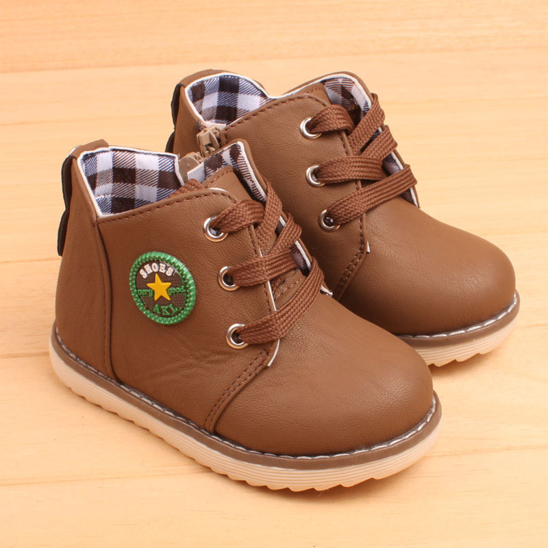 Children's hot sale fashion boots classic 2017 autumn winter kid's keep warm snow boots for boys girls size21-25