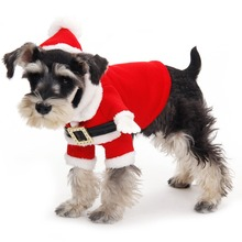 2014 New Design Cute Christmas Dog Clothes Santa Pet Clothing Winter Warm Small Medium Dog Cat XS-XL Size