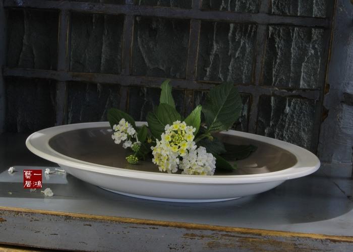 Famous foreign trade export porcelain ceramic tableware plate steak plate senior Western gray market market(China (Mainland))